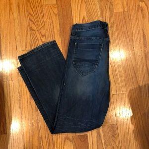 Men's Express blue Kingston classic bootcut jeans